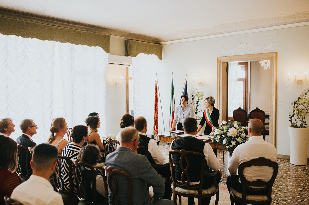 Civil Wedding ceremony with interpreter in Venice, Italy